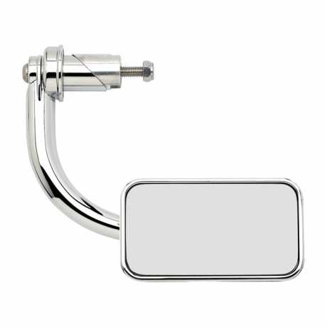 "Biltwell Biltwell Utility Bar-End Mirror  Rectangle 1"" chrome  - 574613"
