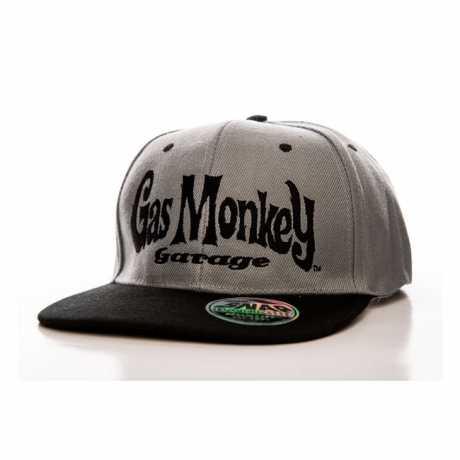 Gas Monkey Garage GMG Round Logo Snapback Cap schwarz/grau  - 574882