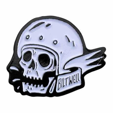 Biltwell Biltwell Enamel Pin Skull schwarz/weiß  - 576088