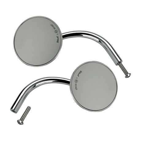 Biltwell Biltwell Utility Round Mirror Set chrome ECE  - 576337