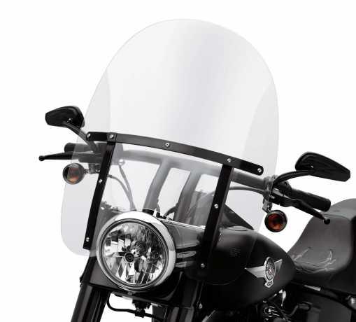 "Harley-Davidson Abnehmbare King-Size Windschutzscheibe 21"" klar & schwarze Streben  - 57688-10"