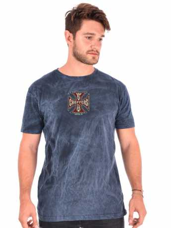 West Coast Choppers West Coast Choppers Spark Vintage T-Shirt Blue  - 577618V
