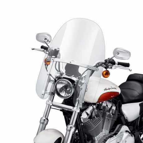 "Harley-Davidson Quick-Release Compact Windshield 18"" clear & polished Braces  - 57801-11"