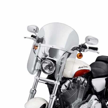 "Harley-Davidson Abnehmbare Kompakt-Windschutzscheibe 14"" Leicht Getönt Polierte Streben  - 57802-11"