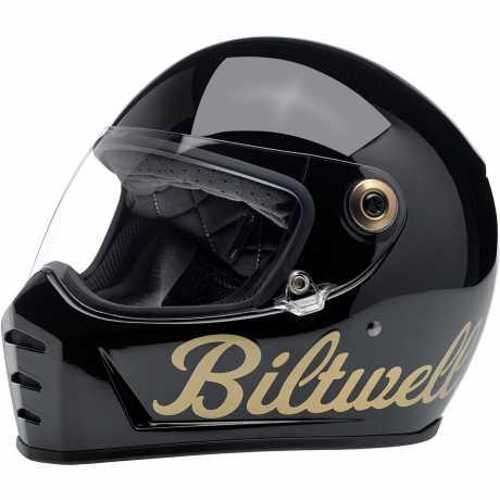 Biltwell Biltwell Lane Splitter Helmet ECE Gloss Black/Gold Factory  - 578229V