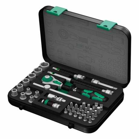 "Wera Wera 8100 SA 4 Zyklop Speed Ratchet Kit 1/4""  - 581365"