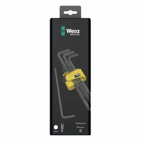 Wera Wera Key Set 950/9 Hex-Plus Imperial 1 BlackLaser  - 581757