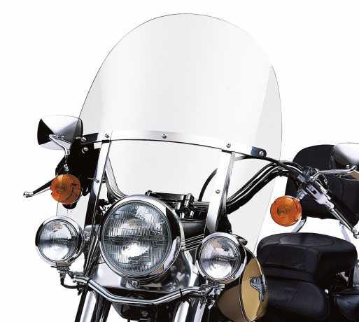 """Harley-Davidson Abnehmbare King-Size Windschutzscheibe 21"""" klar & polierten Streben  - 58240-95"""