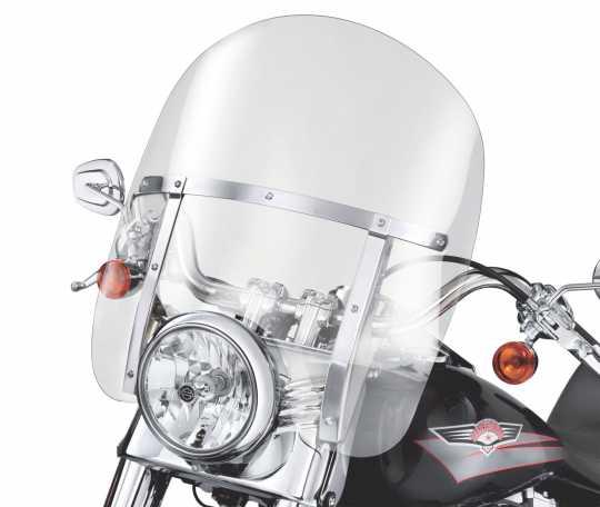 "Harley-Davidson King-Size Detachable Windshield 18"" light smoke & Polished Braces  - 58278-95"