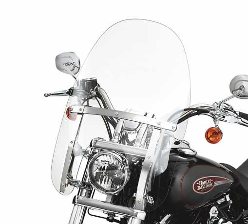 "Harley-Davidson Abnehmbare Kompakt-Windschutzscheibe 18"" klar & polierte Streben  - 58346-06"