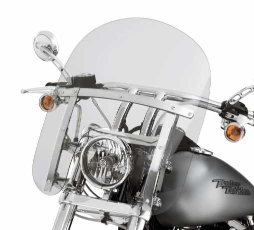 "Harley-Davidson Quick-Release Compact Windshield 14"" light smoke & polished Braces  - 58348-06"