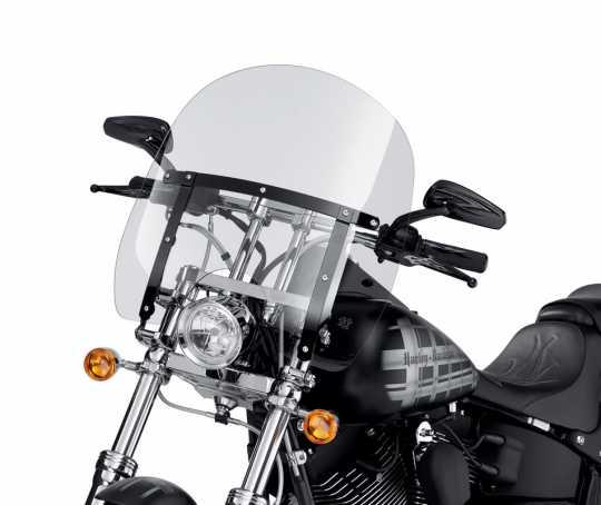 """Harley-Davidson Abnehmbare Kompakt-Windschutzscheibe 16"""" leicht getönt & schwarze Streben  - 58376-09"""