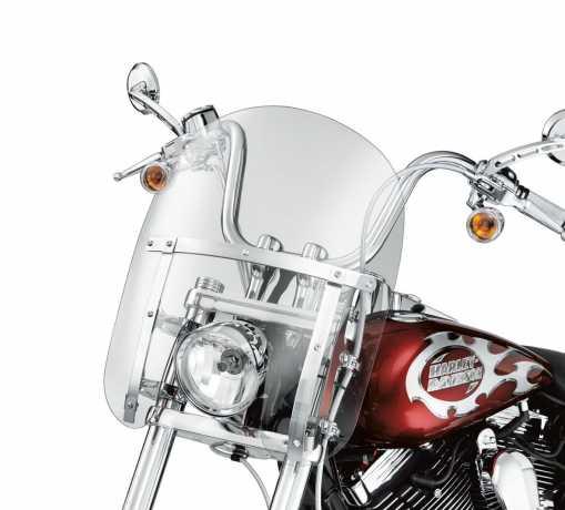 "Harley-Davidson Abnehmbare Kompakt-Windschutzscheibe 14"" leicht getönt & polierte Streben  - 58444-06"