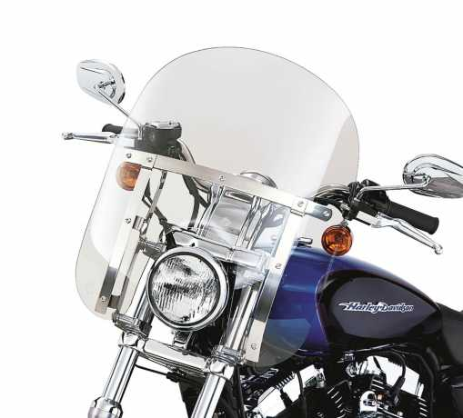 "Harley-Davidson Quick-Release Compact Windshield 14"" light smoke & polished Braces  - 58602-04"