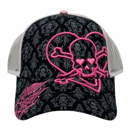 Lethal Threat Lethal Threat Heart Skull Damen Trucker Cap schwarz/pink  - 587445