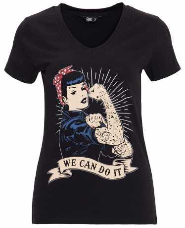King Kerosin Queen Kerosin women´s T-Shirt We Can Do It black L - 592216