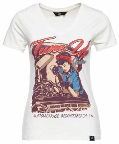 King Kerosin Queen Kerosin Damen T-Shirt Tune Up offwhite  - 592234V