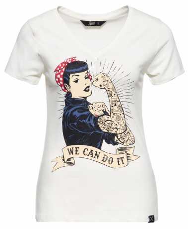 King Kerosin Queen Kerosin Damen T-Shirt We Can Do It offwhite  - 592239V