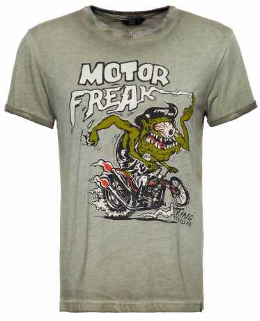 King Kerosin King Kerosin Motor Freak T-Shirt Olive  - 592287V