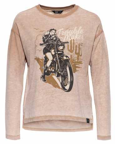 King Kerosin Queen Kerosin Trouble Maker Sweatshirt Midbrown  - 592527V