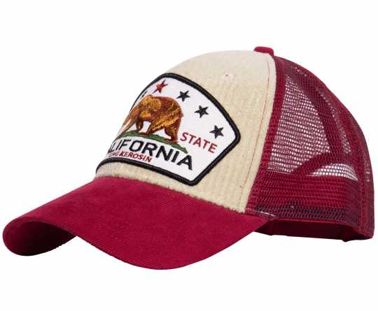 King Kerosin King Kerosin California Cord Trucker Cap beige/rot  - 592615