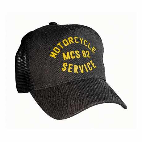 Motorcycle Storehouse MCS Service Trucker Cap Black Denim  - 593711