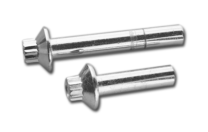 Chrome plated 12 point flanged outer head bolt 48mm  - 59-657
