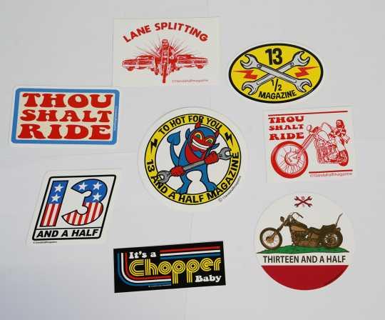 13 1/2 Magazine 13 1/2 Sticker Set (8)  - 597805
