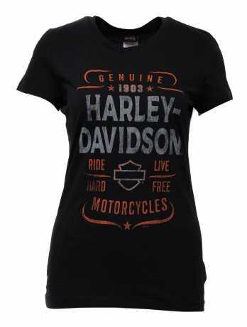 H-D Motorclothes Harley-Davidson women´s T-Shirt Quality Time black  - 5AQ6-HHSS