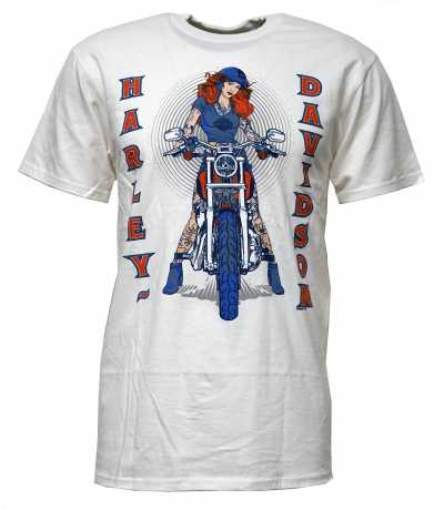 H-D Motorclothes Harley-Davidson T-Shirt Curve Master white  - 5L33-HHU8