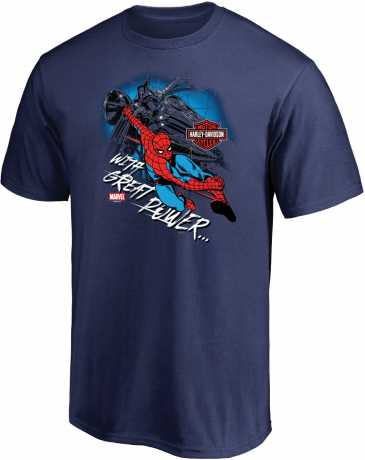 H-D Motorclothes H-D Marvel T-Shirt Spiderman With Great Power  - 5L33-HMA8