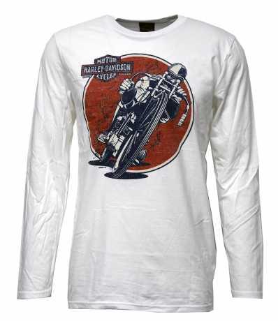 H-D Motorclothes Harley-Davidson Longsleeve Running the Hills weiß  - 5L36-HK56
