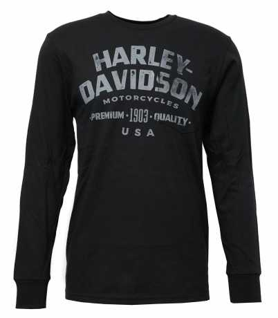 H-D Motorclothes Harley-Davidson Longsleeve Dusty Trails schwarz  - 5L37-HK55