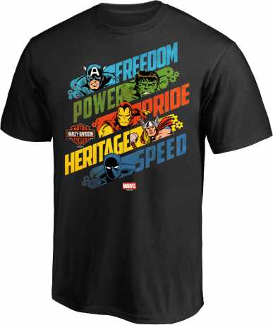 H-D Motorclothes H-D Marvel Kids T-Shirt  Freedom Power Pride Heritage Speed  - 5M47-HMB6