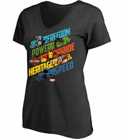 H-D Motorclothes H-D Marvel Damen T-Shirt Freedom Power Pride Heritage Speed XL - 5QF4-HMB2-XL