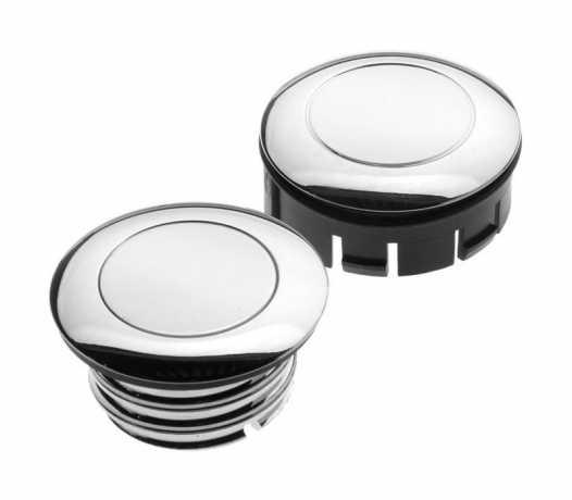 Custom Chrome Vented Gas Cap with Dummy 60mm, chrome  - 60-0240