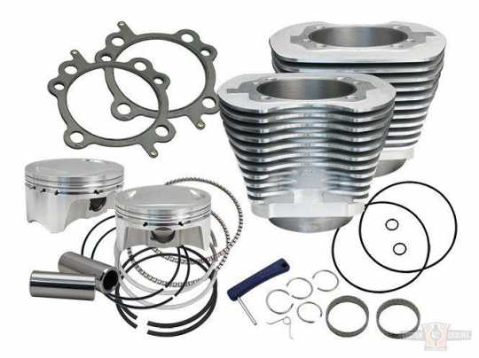"S&S Cycle S&S 107"" big bore kit, silver  - 60-7402"