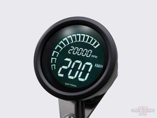 Daytona Japan Velona Digital Tacho & Drehzahlmesser 60mm  - 60-7410