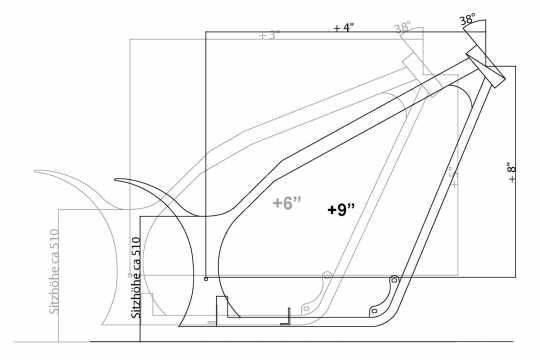 Thunderbike Frame-Kit Freestyle Over  - 60-82-060V