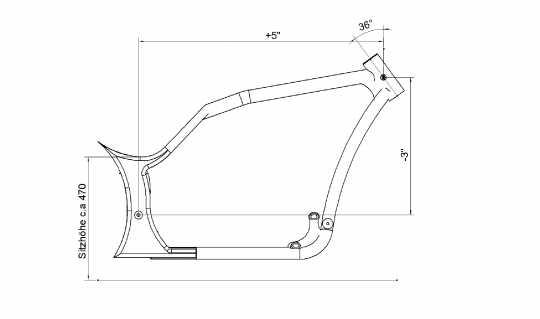 "Thunderbike Rahmen-Kit Production-R 260/21""  - 60-83-290"
