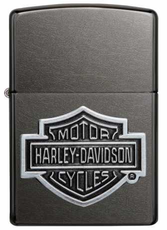 Zippo Zippo Harley-Davidson Feuerzeug Bar & Shield grau  - 60.004.457