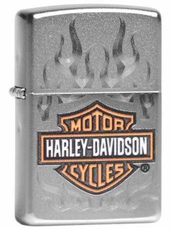 Zippo Zippo Harley-Davidson Bar & Shield silver & orange Flames  - 60.004.542
