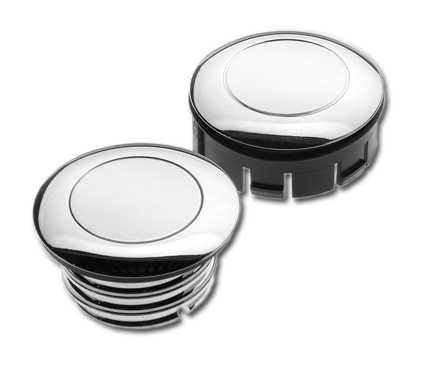 Custom Chrome Vented Gas Cap with Dummy 60mm, chrome  - 60-0240