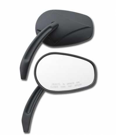 Custom Chrome Custom Chrome Arrow Head Mirrors, black  - 60-0553