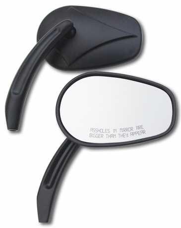 Custom Chrome Custom Chrome Arrowhead Asshole mirrors black  - 60-0559