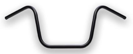"Santee Santee 1"" Ape Hanger handlebars 12""   black - 60-2225"