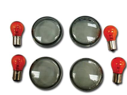 Custom Chrome Smoked Lens Kit  - 60-4314