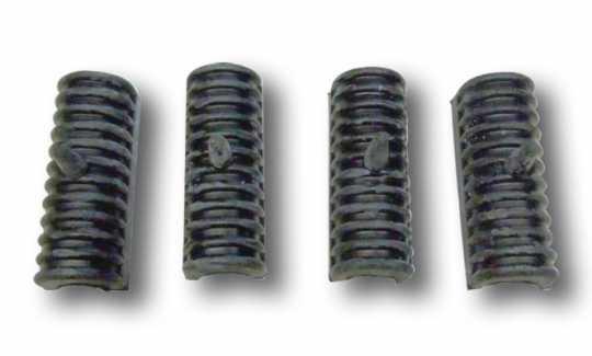 Custom Chrome Saddlebag Support Rail Cushions (4)  - 60-5708