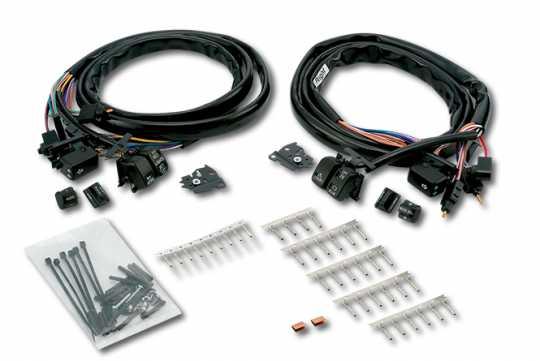 Custom Chrome Handlebar Switch Kit Radio & Cruise, schwarz  - 60-5780