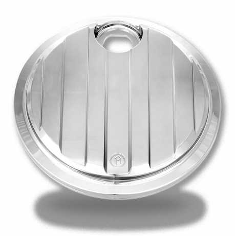 Performance Machine PM Fuel Door, Drive, Chrome  - 60-7456